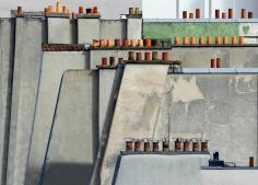 Michael Wolf - Paris Rooftops #4, 2014 Digital C-Print 48 x 68 inches ; Bruce Silverstein Gallery