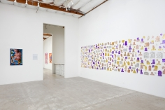 Installation View ofUnreachable Spring: Laura Krifka (L), Edra Soto (R),and Peter Williams (rear)