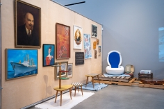 Installation view of Transformations: Living Room > Flea Market > Museum > Art at the Wende Museum, Culver City, CA.