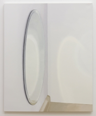 Roger White Oval Mirror with Counter, 2015