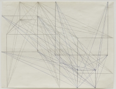 Two Side Drawing (Abstände von Ecke zur Form gleichwertig, 1 + 1/2 + 2/3 + 3), 1979