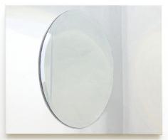 Roger White Oval Mirror, 2016