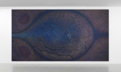 "Luisa Rabbia ""Birth"", 2017, colored pencil, acrylic and fingerprints on canvas,"
