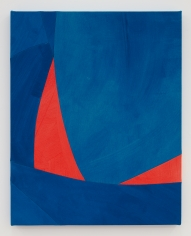 Sarah Crowner Overlapping Red and Blue, 2021