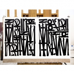 Retna Say My Name So You Can See Me (Diptych), 2016