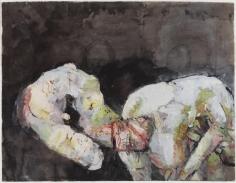 """Georg Baselitz """"Geschlecht mit Klössen (Sex with Dumplings)"""", 1963"""