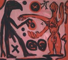 """A.R. Penck """"Tausch - Austausch (Change - Exchange)"""", 1991"""