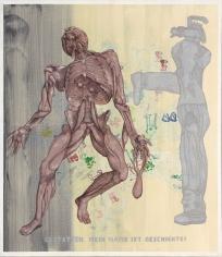 """Jörg Immendorff """"Gestatten. Mein Name ist Geschichte! (Permit Me, My Name Is History!)"""", 2005"""