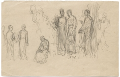 """""""Étude pour Les muses inspiratrices acclamant le genie (Study for The Muses Welcoming the Genius of Enlightenment)"""", 1896"""
