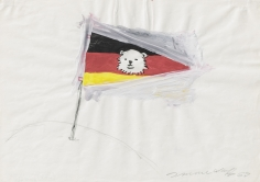 """Untitled (Eisbärfahne) MW 2 ([Polar Bear Flag] MW 2)"", 1968"