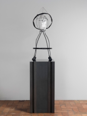 """Untitled"", 2010 Aluminum, copper wire, tissue paper, pencil"