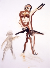 """""""Untitled"""", 1987 India ink, gouache, pastel on paper"""