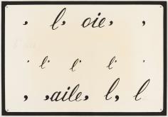 "Marcel Broodthaers ""L'Aile, L'Oie"", 1969"