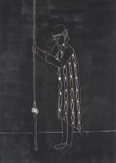 "Enrico David ""Self-Portrait in Response to Lack of Adequate Equipment (night version)"", 2004"