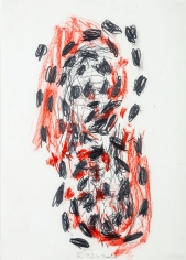 """""""Untitled"""", 1991 Pastel, pencil on paper"""