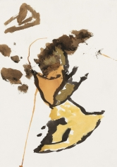 """""""Untitled"""", 1990 India ink, gold pigment on paper"""