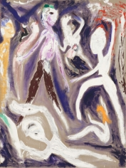 """""""Meaty Blond People Danced at the End of the Hall Yellow and White"""", 1986"""