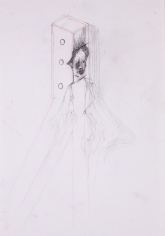 """Untitled"", 2013 Graphite, colored pencil on paper"