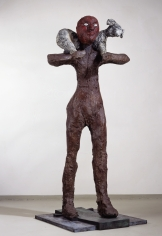 """Shepherd"", 1986 Painted bronze, Edition: 6, Cast 6/6"