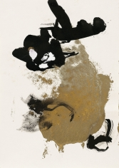 """""""Untitled"""", 1989 India ink, gold pigment on paper"""