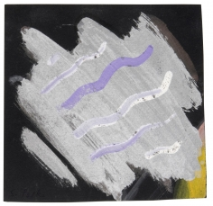 """""""Untitled"""", 1968 Gouache, silver paint, on board"""