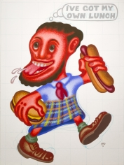 """Peter Saul """"I've Got My Own Lunch"""", 2012"""