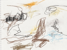 """""""Untitled"""", 1999 Colored pencil on paper, pen on paper"""