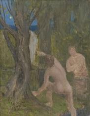 """""""Baigneurs dans un sous-bois (Bathers under Trees)"""", ca. 1890-91"""