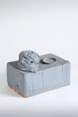 """Standart-Modell"", 1972-1973 Cardboard, fabric, metal lid, paint"