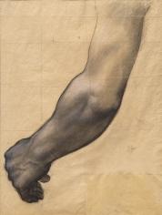 """PIERRE PUVIS DE CHAVANNES, """"Étude d'un bras (étude pour Sainte Geneviève en prière) (Study of an Arm [Study for Saint Genevieve in Prayer])"""", ca. 1877-1878"""