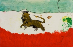"""Lion in Sand"", 2012"