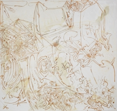 """""""Untitled"""", 1990 Silver nitrate, silver bromide on linen"""