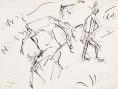 "ERNST LUDWIG KIRCHNER, ""Goats and Shepherd"", 1918"