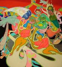 """Untitled"", 1966 Acrylic, oil, metallic paint on canvas"
