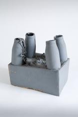 """""""Standart-Modell"""", 1972-1973 Cardboard, glass bottles, string, paint"""