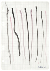 """""""Untitled"""", 1969 Gouache on graph paper"""