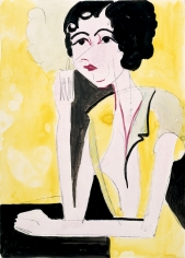 "ERNST LUDWIG KIRCHNER, ""Portrait of a Girl"", 1933"