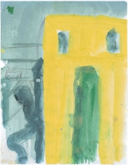 """Untitled"", 2015 Distemper, pencil on paper"
