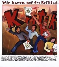 """""""Critique"""", 1971 Dispersion on canvas"""