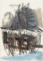 """Untitled"", 1985 Pencil, crayon, ink, watercolor, gouache on paper"
