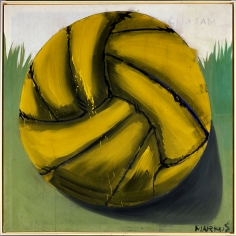 """Fussball"", 1966 Distemper on canvas"
