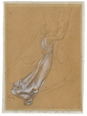 """""""Muse tenant une lyre (Muse Carrying a Lyre)"""", ca. 1894-1896"""