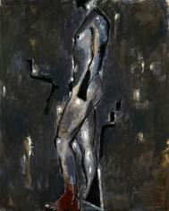 """Markus Lüpertz """"Standbein Spielbein-links-mit krausen Gedanken"""", 1982"""