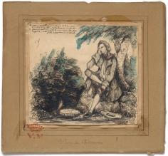 """Portrait de Lamartine (Portrait of Lamartine)"", ca. 1840-1842"