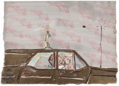 """""""Untitled"""", 1982 India ink, watercolor, transfer on paper"""