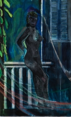 "Peter Doig ""Night balcony painting"", 2015"