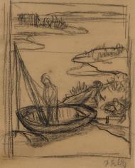 """""""Étude pour Le Pauvre Pêcheur (Study for The Poor Fisherman)"""", 1881"""