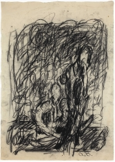 """Untitled"", 1962 Charcoal on paper"