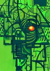 """""""SGEARS"""", 2014 Acrylic gouache and ink on canvas"""