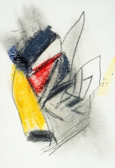 """""""Untitled"""", 1985 Charcoal, crayon, colored pencil on paper"""